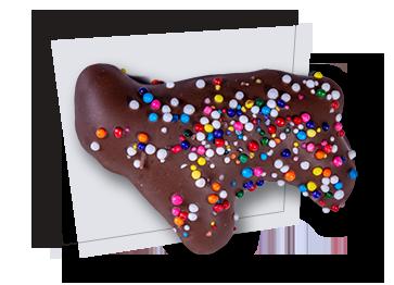 Milk Chocolate Animal Crackers with Sprinkles - Jon Stopay